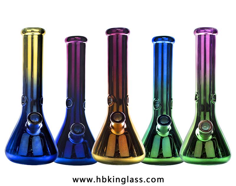 7 colors ion plating 14inch 7mm beaker bongs kr192