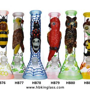 glow in the dark 3d beaker base bongs 10inch small bongs hb76-hb81