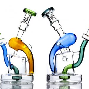 good function flared joint recycler bongs with showerhead perc kc07
