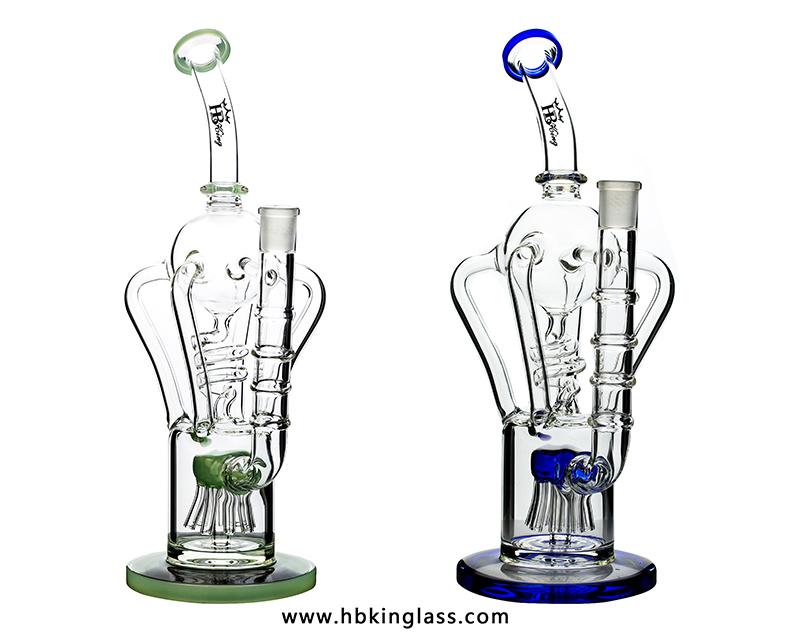 lookah design recycler bongs with spring perc kr290-1.4