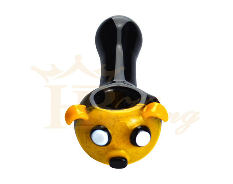 5inch black anmial design hand pipes 31